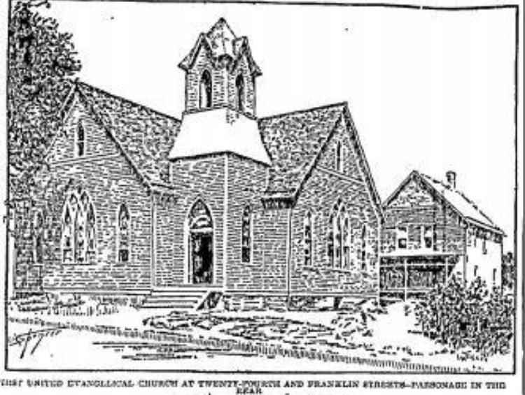 First United Evangelical Church, N 24th and Franklin Streets, North Omaha, Nebraska