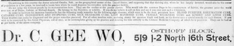 Dr. C. Gee Woo, 519 N. 16th Street in Omaha, Nebraska