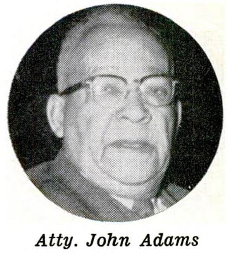 John Adams, Sr. (1876-1962) of North Omaha served in the Nebraska Legislature from 1949–1962.