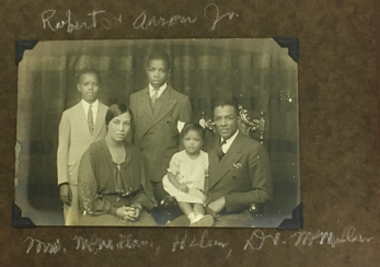 This picture shows Dr. Aaron Manasses McMillan, his wife Willena, his sons Aaron and Robert, and his young daughter Helen. This photo is circa 1935.
