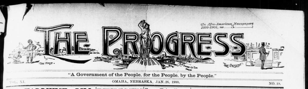 The Progress, a Black newspaper, North Omaha, Nebraska