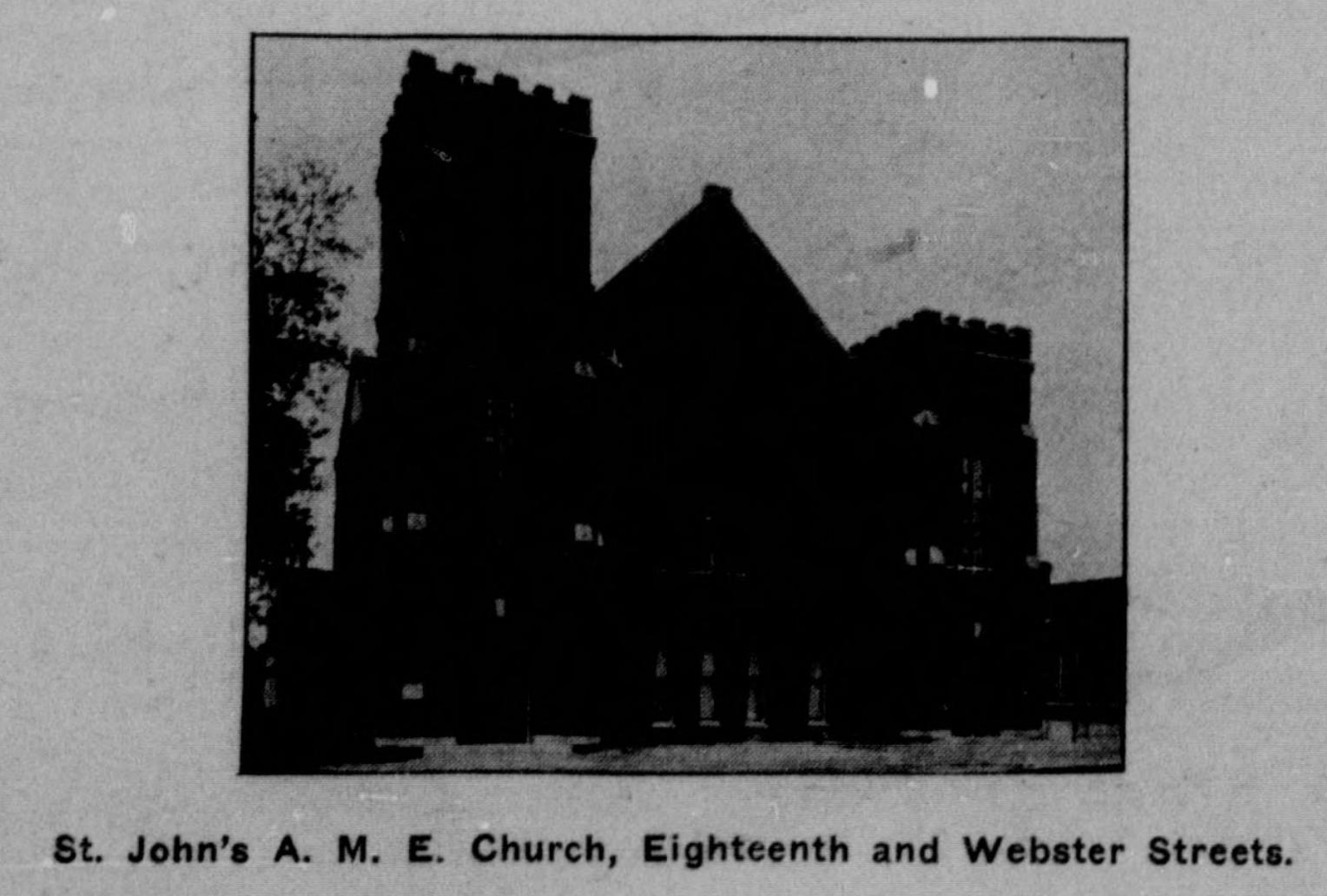 St. John's African Methodist Episcopal Church, 18th and Webster Streets, Omaha, Nebraska