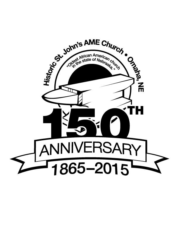 This is the 150th anniversary logo for St. John's AME Church that was used in 2015.