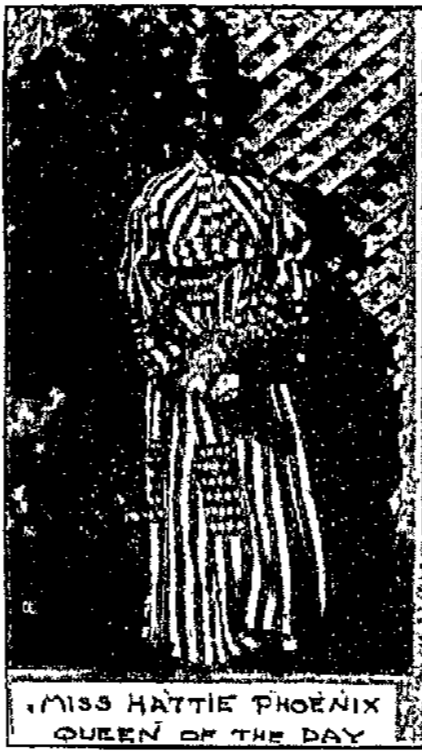This is Hattie Phoenix who was crowned Queen of Emancipation Day, as featured in a 1909 edition of the Omaha World-Herald.