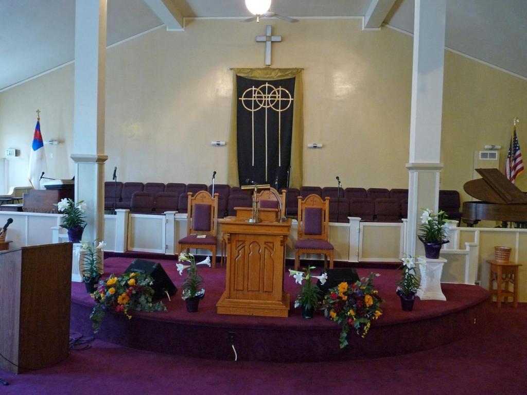 This 2012 pic shows the sanctuary at Mount Moriah.