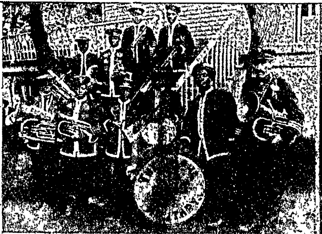 The Omaha Military Band is shown in this 1906 pic from an Omaha World-Herald exposè on the city's Emancipation Day celebrations.
