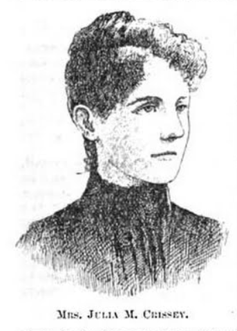 Julia M. Crissey (August 5, 1859-???), North Omaha, Nebraska