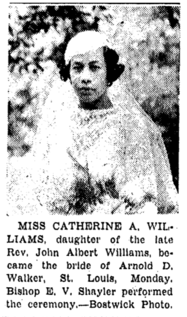 This is a 1935 photo of Catherine A. Williams (Walker) in 1935.