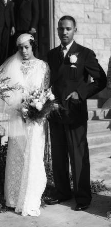 This is John Albert Williams' daughter and her new husband, Catherine and Alfred Walker