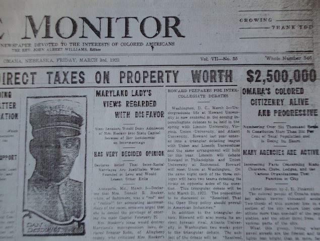 This is a headline for the March 3, 1922 The Monitor