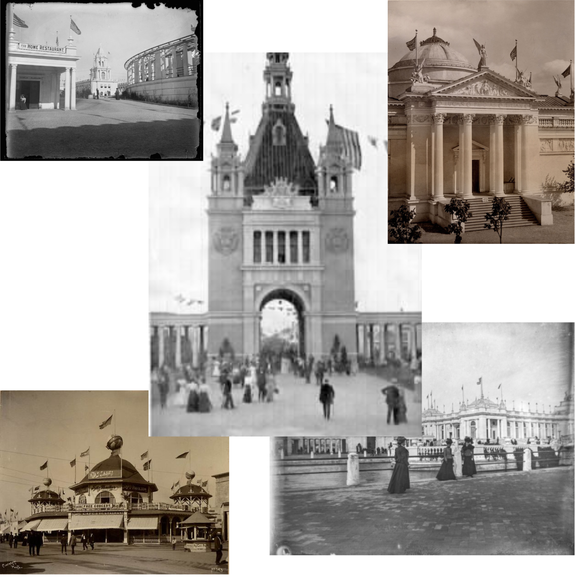 A sample of buildings at the 1898 Trans-Mississippi Exposition in North Omaha, Nebraska