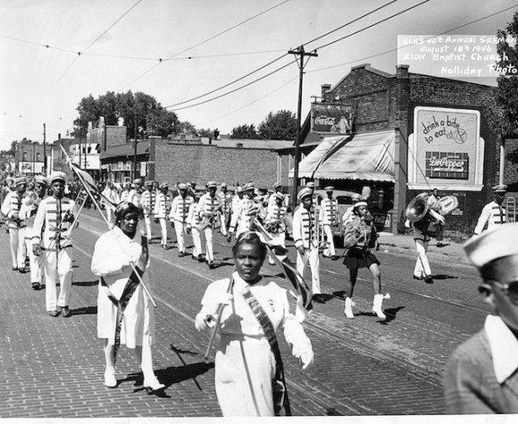24th Street parade in front of the Ritz Theater in North Omaha