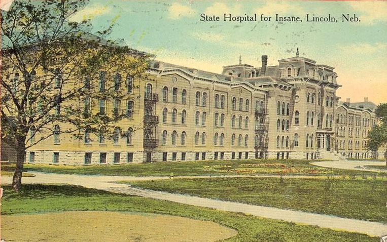 Nebraska State Hospital for the Insane in Lincoln, Nebraska