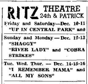Ritz Theater, 2041 N. 24th St., North Omaha, Nebraska
