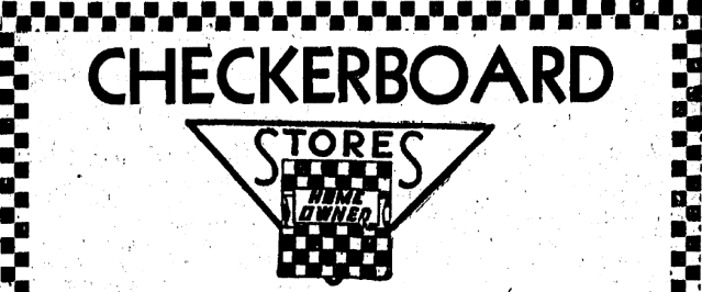 Checkerboard store logo