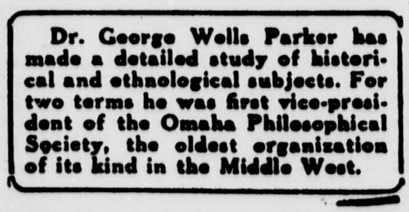 The New York Sun clipping about George Wells Parker, 1916