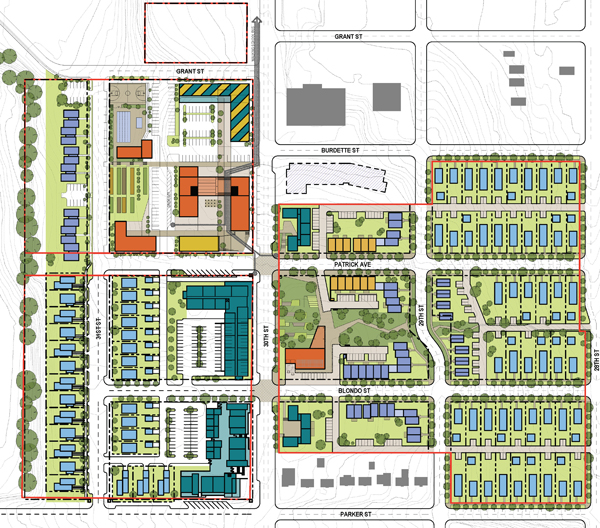 Highlander development graphic, North Omaha, Nebraska