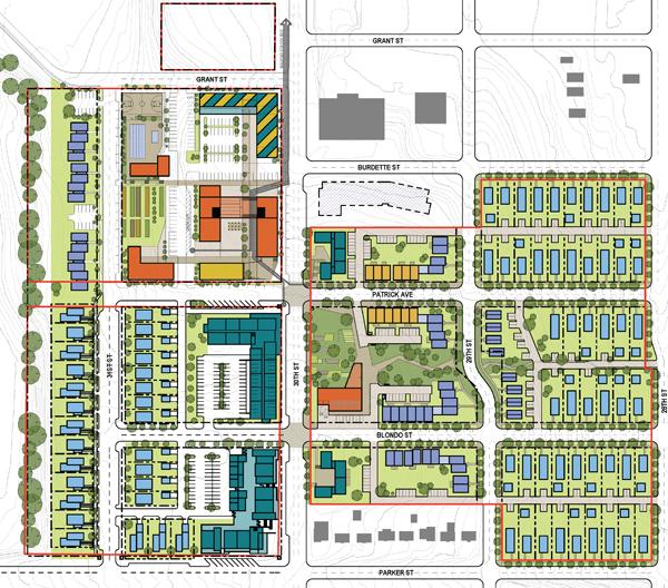 Highlander development graphic, North Omaha, Nebraska