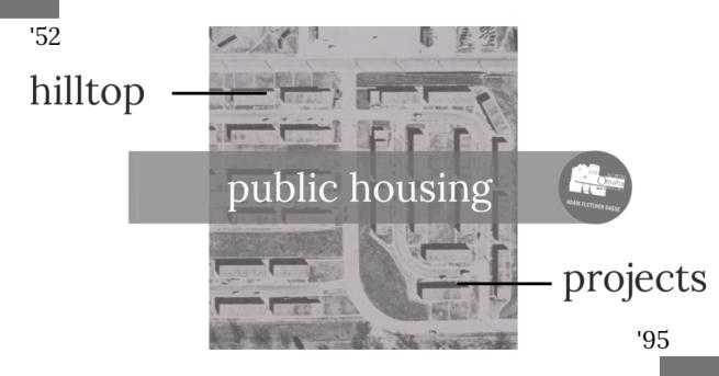 Hilltop Projects, North 30th and Lake Streets, North Omaha, Nebraska