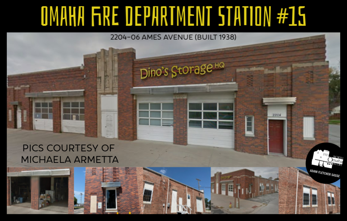 Former Omaha Fire Department Station #15, 2204-06 Ames Avenue, North Omaha, Nebraska