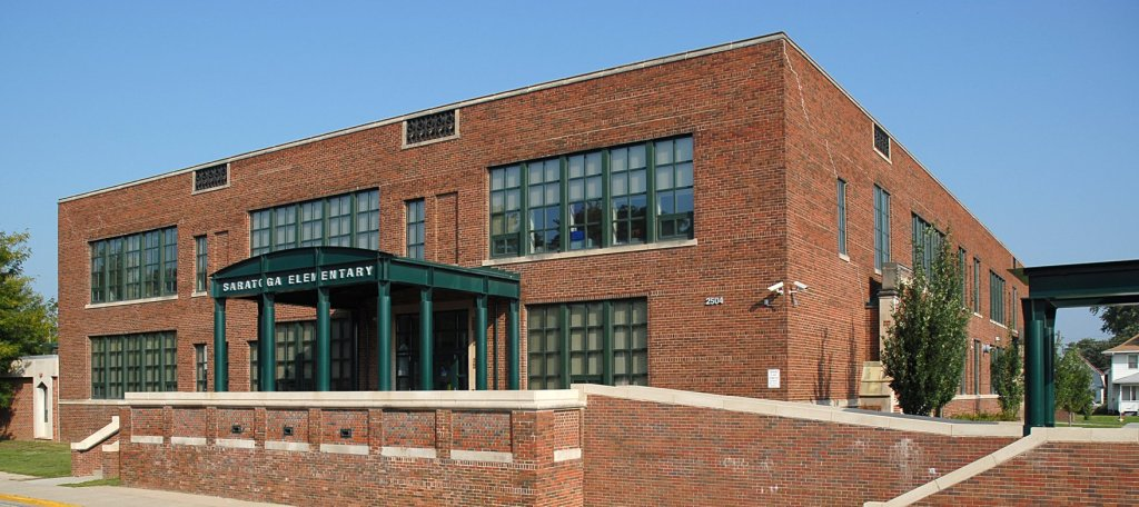Saratoga School, 2504 Meredith Avenue, North Omaha, Nebraska.