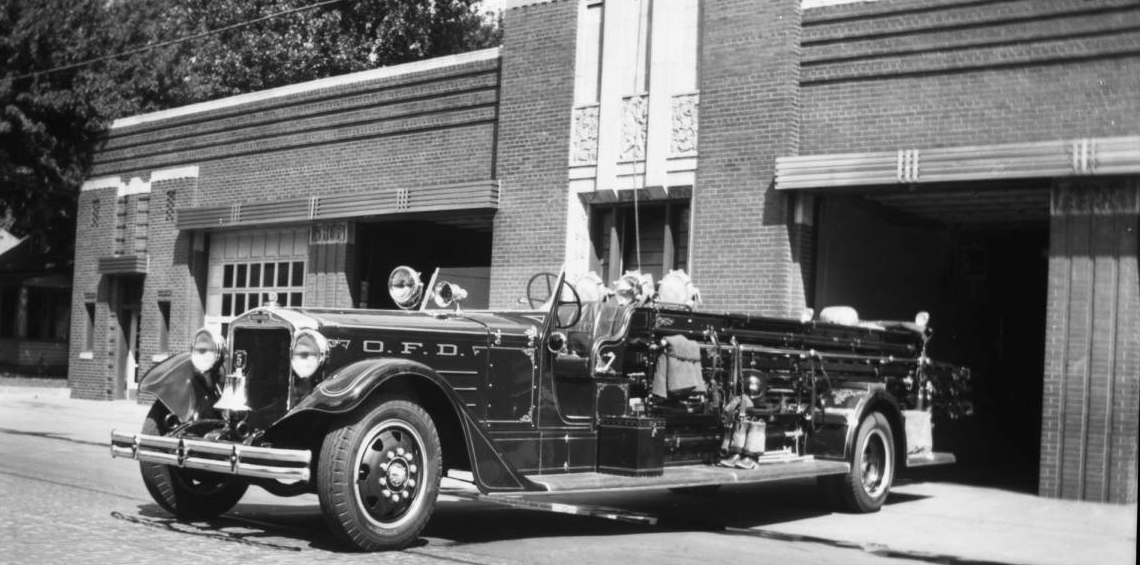 Omaha Fire Department station #4, Ames Avenue.