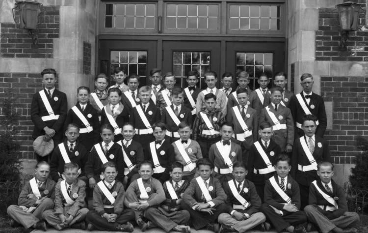 Saratoga School safety patrol, 1930