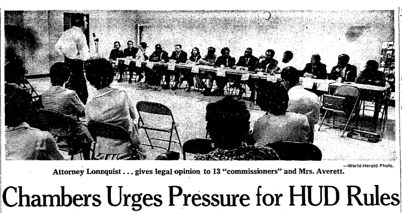September 1971 Omaha World-Herald OHA criticism