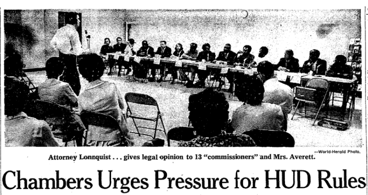 September 1971 Omaha World-Herald OHA criticism