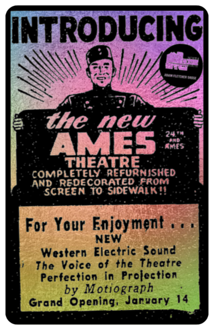 Ames Theatre, North 25th and Ames Avenue, North Omaha, Nebraska