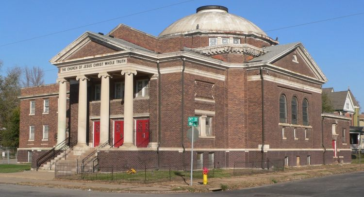 This picture shows the Church of Jesus Christ Whole Truth at N. 24th and Wirt Streets, North Omaha, Nebraska
