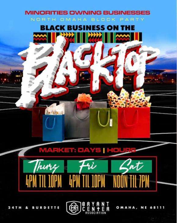 Minorities Owning Businesses 2019 Black Business on the Blacktop, Bryant Center, North 24th and Burdette Streets, North Omaha, Nebraska