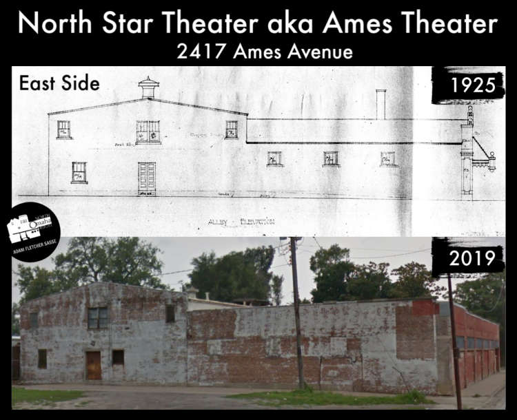 North Star Theater aka the Ames Theater, 2417 Ames Avenue, North Omaha, Nebraska