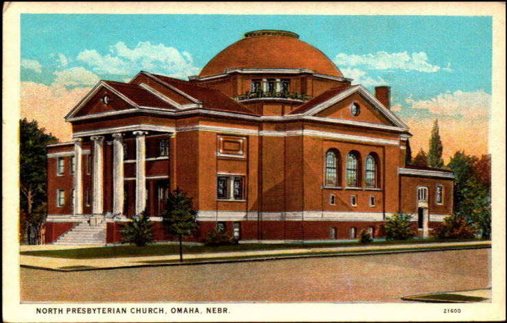 This image illustrates the c1920 appearance of Omaha North Presbyterian Church.