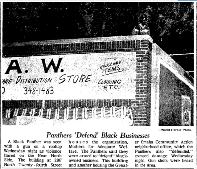 1969 Omaha Black Panthers protect black businesses