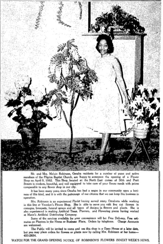 Robinson's Flowers, North 30th and Pratt Streets, North Omaha, Nebraska