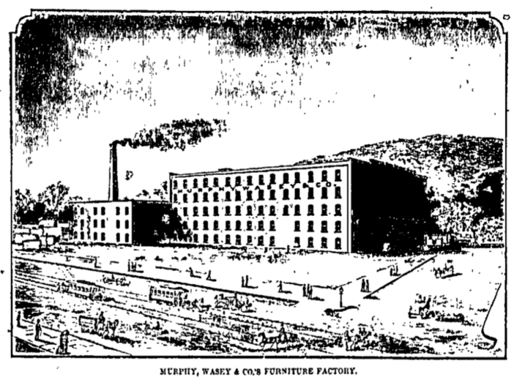 Murphy, Wasey and Company factory built at Spaulding Street and Belt Line Railway, North Omaha, Nebraska