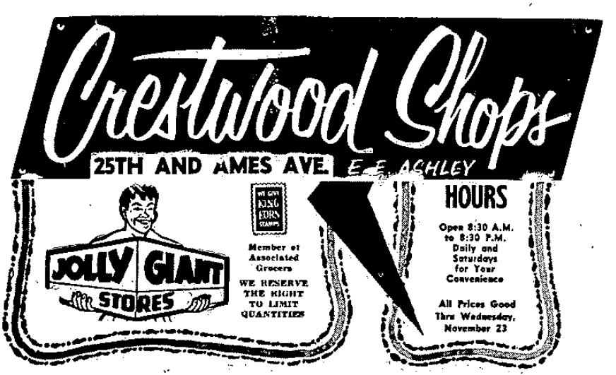 Crestwood Shops, North 25th and Ames Avenue, North Omaha, Nebraska