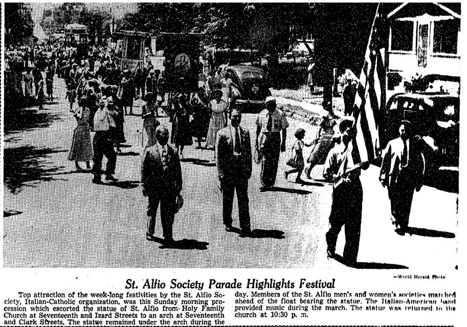 St. Alfio Festival, Omaha 1932