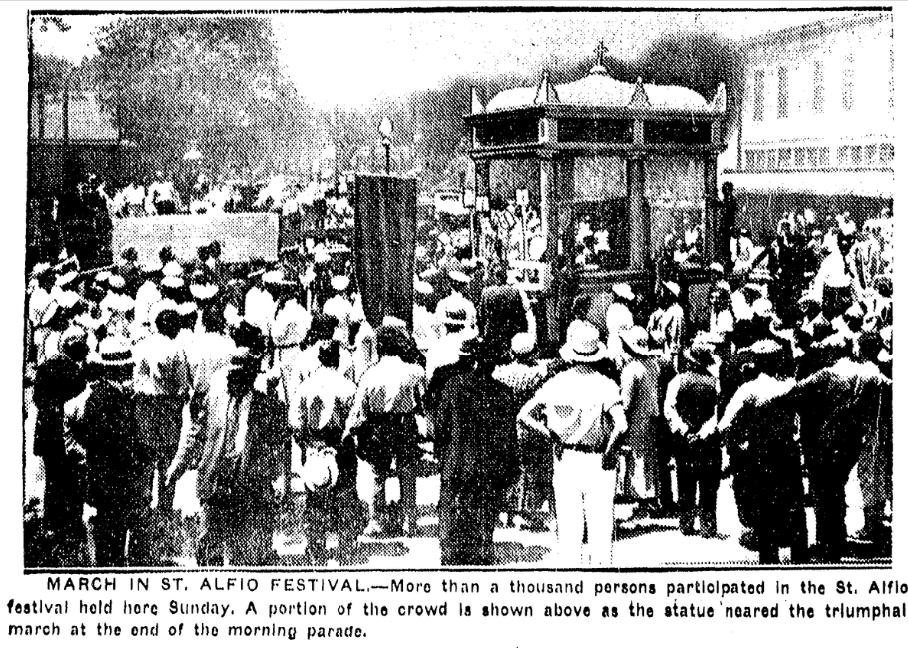 Omaha's St. Alfio Festival, 1934
