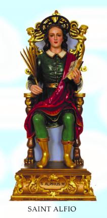 North Omaha's Saint Alfio statue