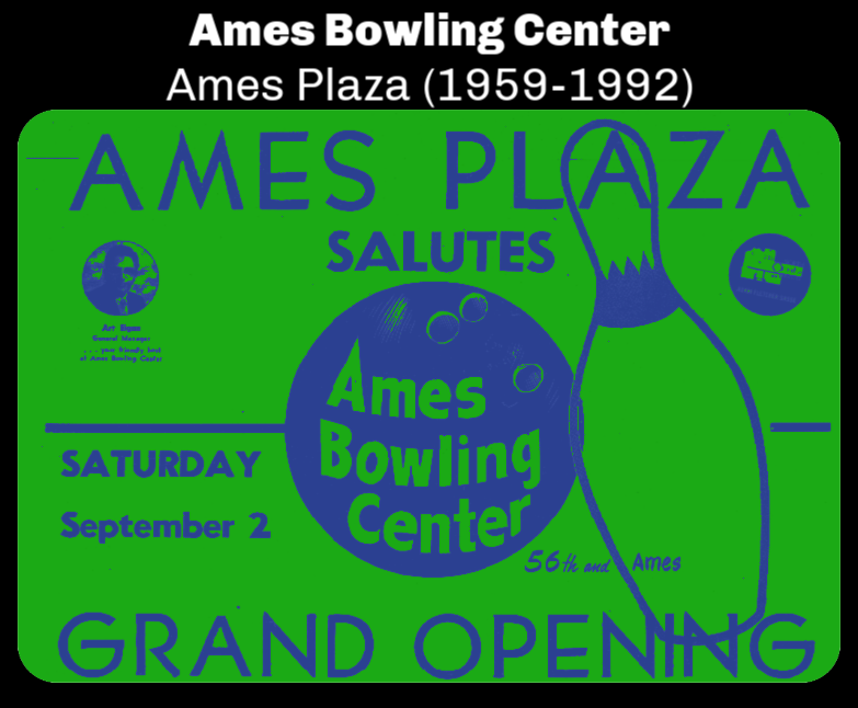 Ames Bowling Center, Ames Plaza, North Omaha, Nebraska