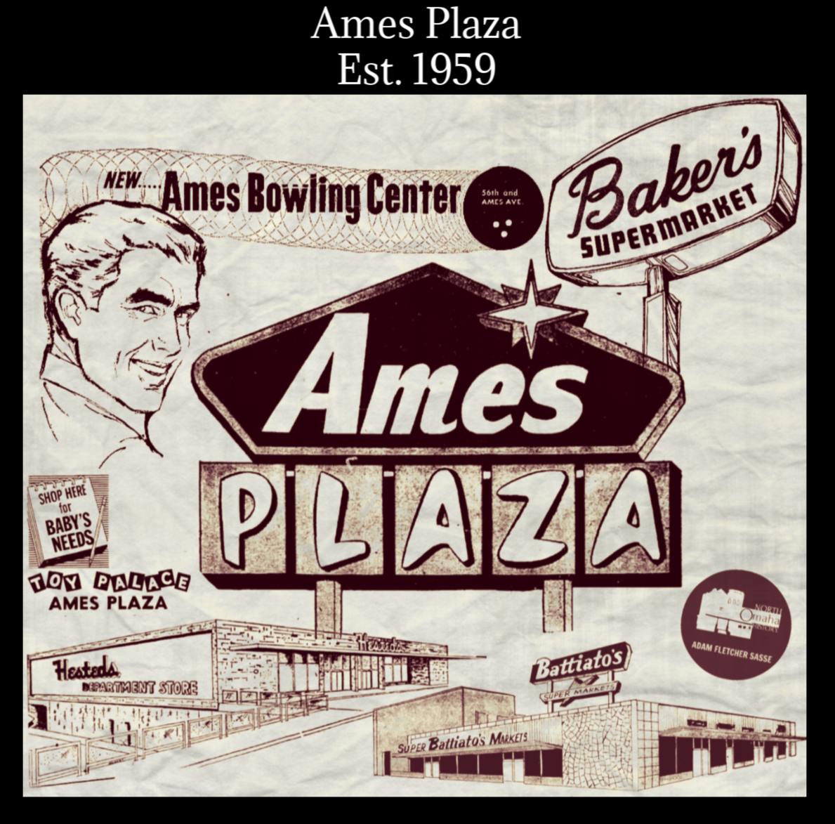 Ames Plaza, North Omaha, Nebraska