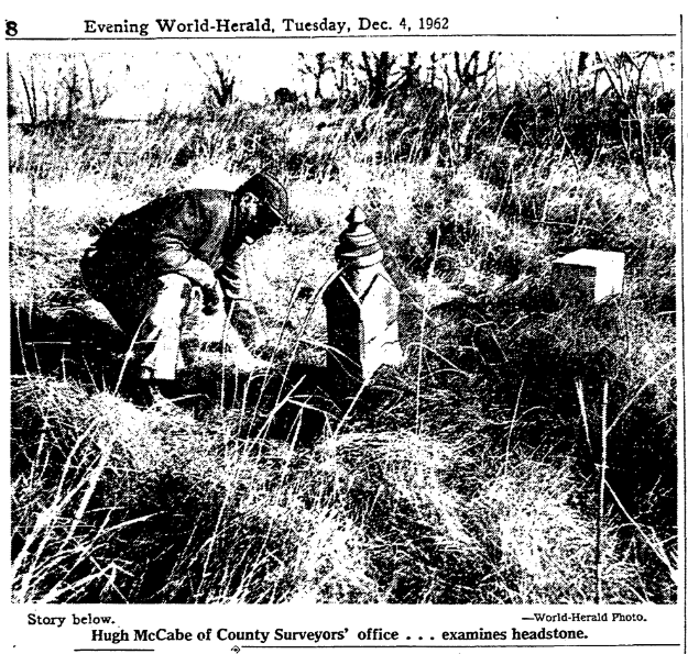 This is a pic from a 1962 newspaper story on the Potter Field.