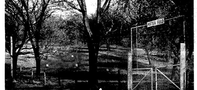 Potter's Field, North 52nd and Young Street, North Omaha, Nebraska.