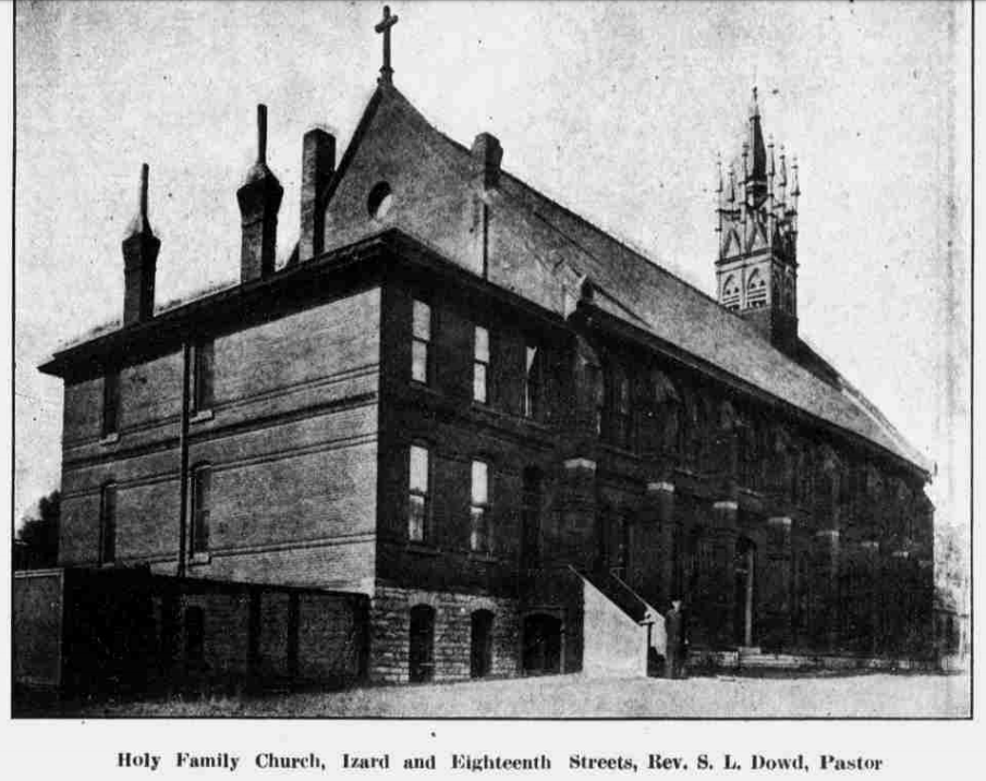 Holy Family Catholic Church, North 17th and Izard Streets, North Omaha, Nebraska