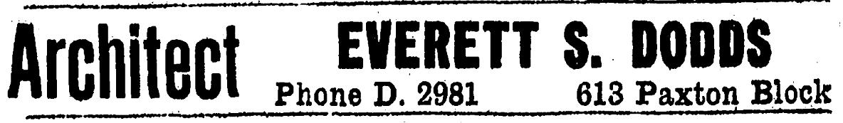 Everett S. Dodds, 613 Paxton Block, Omaha, Nebraska