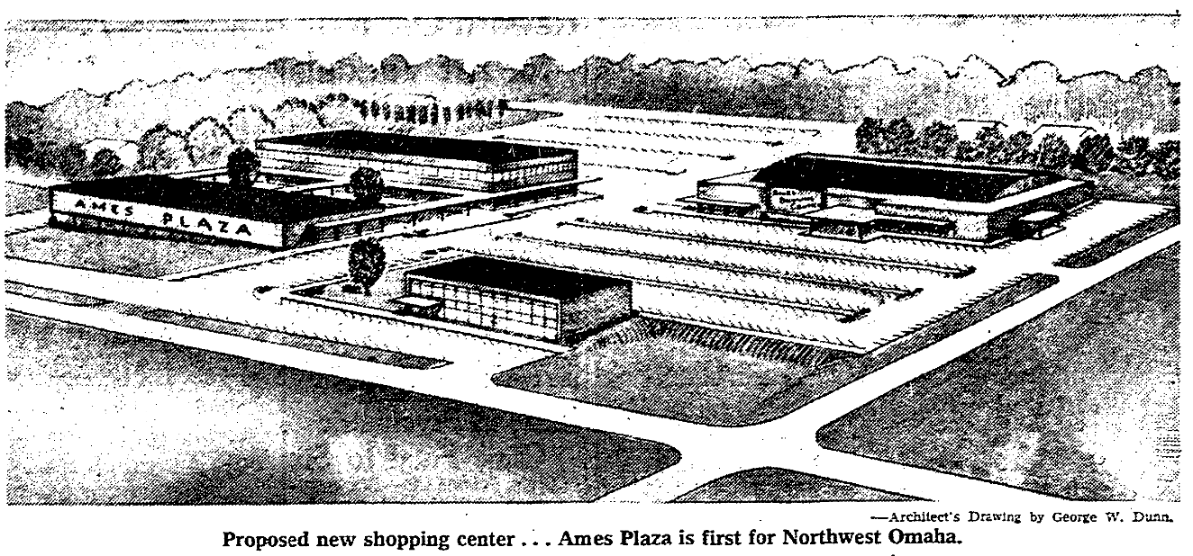 Ames Plaza, North 56th Street and Ames Avenue, North Omaha, Nebraska
