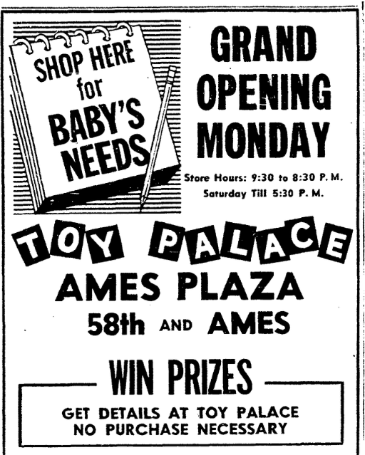 Toy Palace, Ames Plaza, North Omaha, Nebraska