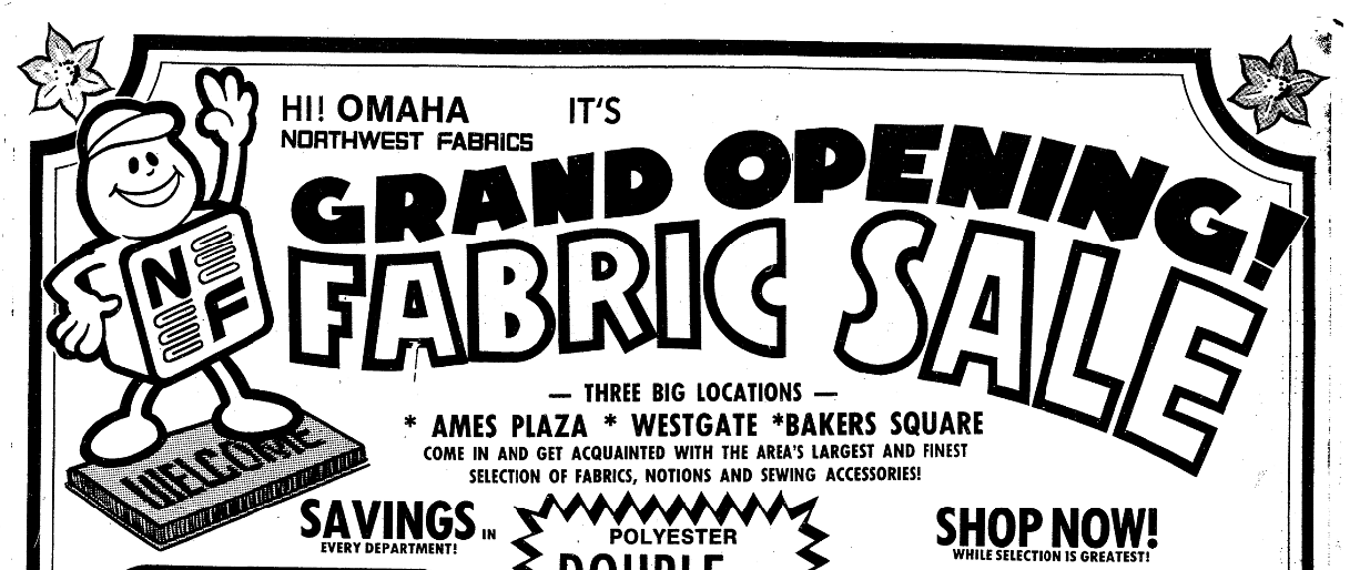 Northwest Fabrics, Ames Plaza, North Omaha, Nebraska
